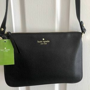 Kate Spade Leather Crossbody Shoulder Bag - Black